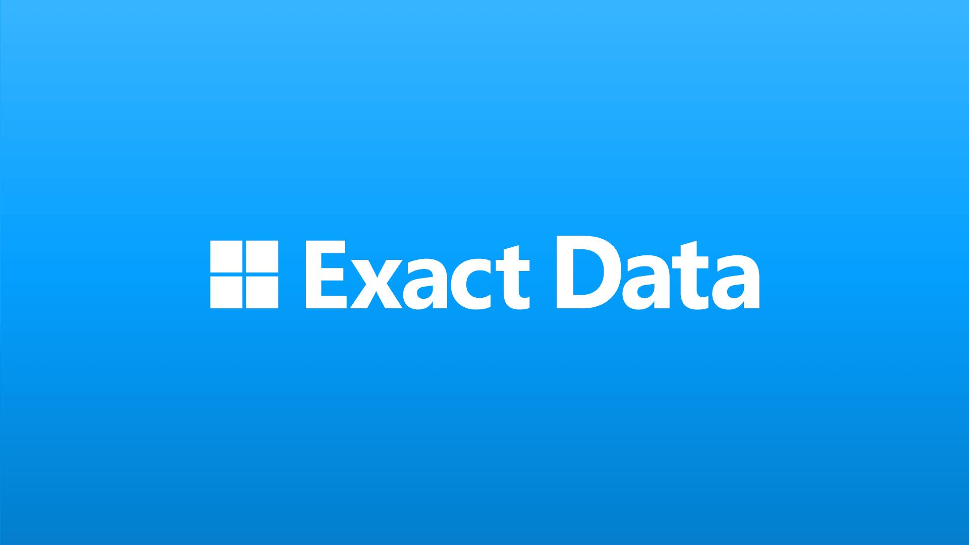 Exact Data Dedicated Team