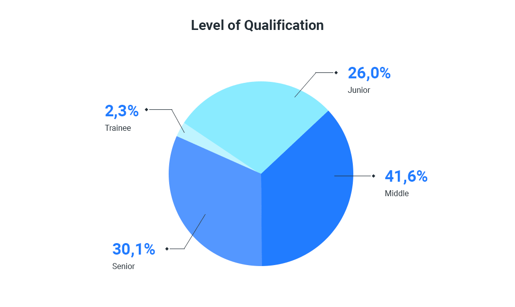 Lviv IT specialists seniority level