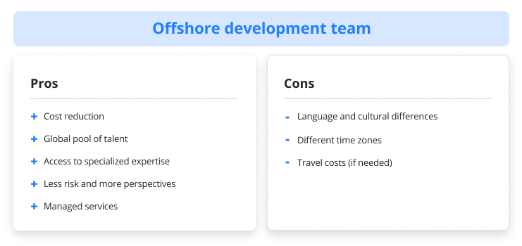 pros and cons of hiring offshore development team