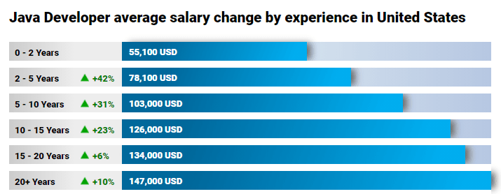 Java Developers Salary In The USA