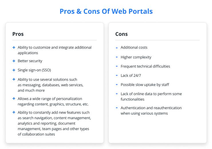 Pros & Cons Of Web Portals