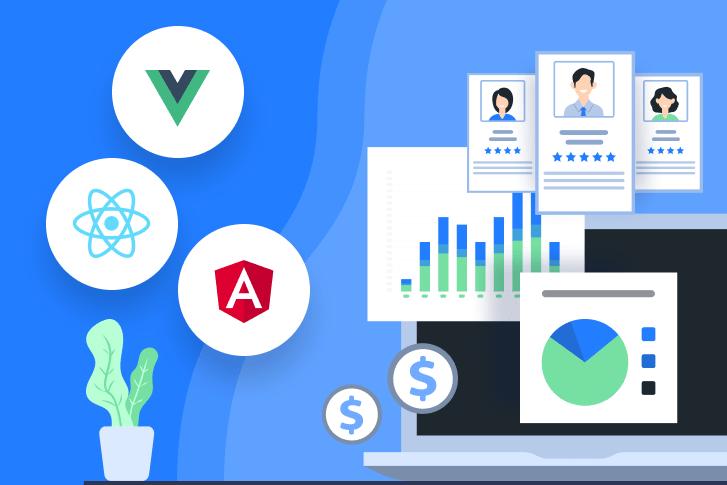 Angular VS. React VS. Vue JS Hiring, Trends & Cost